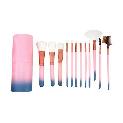 Sale 12pcs Cosmetic Brushes Women Lip Face Eye Makeup Brush Sets with Container