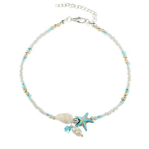 Outfit Conch Starfish Pendant Rice Bead Anklet