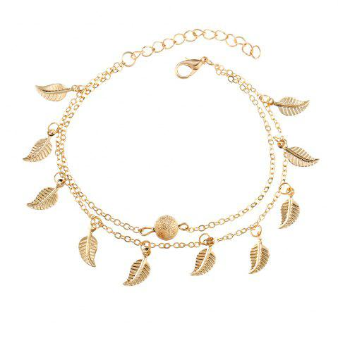 Discount Beach Style Double Vintage Tassel Small Leaf Bracelet