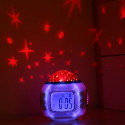 Creative Star Electronic Projection Alarm Clock Decorative Lights -