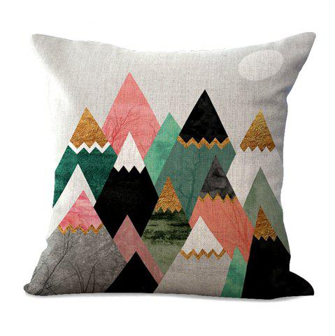 Best Geometric Abstract Color Print Cotton Sofa Cushion Cover