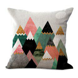 Geometric Abstract Color Print Cotton Sofa Cushion Cover -