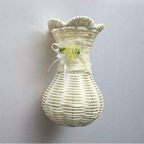 Best Hand Knitted Vase Flower Basket Desktop Decoration