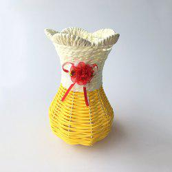 Hand Knitted Vase Flower Basket Desktop Decoration -