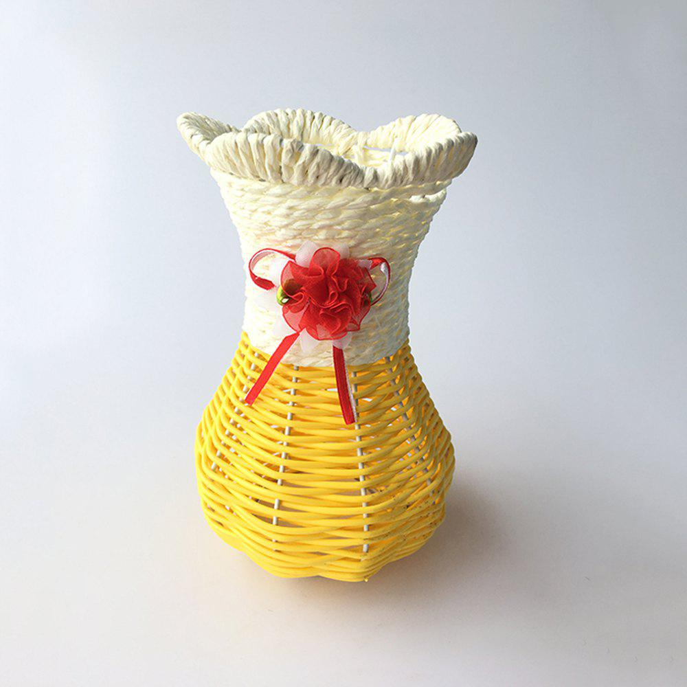 Cheap Hand Knitted Vase Flower Basket Desktop Decoration