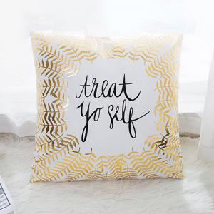Flannel Stamping Pillow Love Letter Cushion Cover -