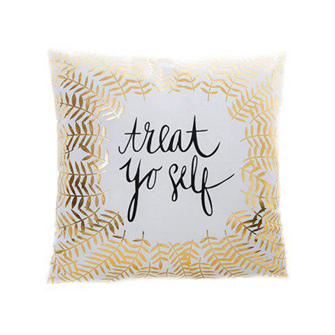 Discount Flannel Stamping Pillow Love Letter Cushion Cover