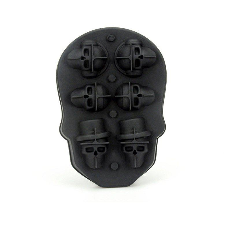Cheap Silicone Ice Pattern 6 Skulls