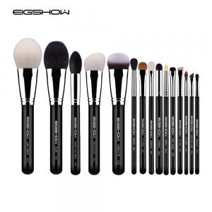 EIGSHOW 15PCS Kit de maquillage classique Costemic Brush Kit Bright Silver -