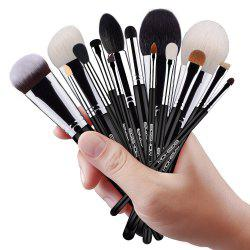 EIGSHOW 15PCS Makeup Set Classic Costemic Brush Kit Bright Silver -