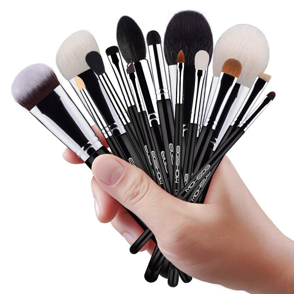 Outfit EIGSHOW 15PCS Makeup Set Classic Costemic Brush Kit Bright Silver