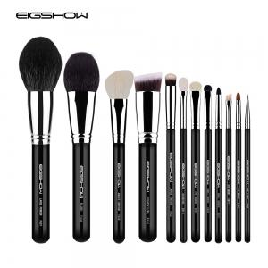 EIGSHOW 12PCS Makeup Set Classic Comestic Brush Kit Bright Silver -