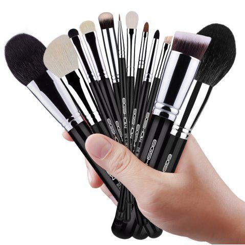 Outfits EIGSHOW 12PCS Makeup Set Classic Comestic Brush Kit Bright Silver
