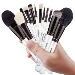 EIGSHOW 12PCS Set de maquillage classique Comestic Brush Kit Light Gun noir -