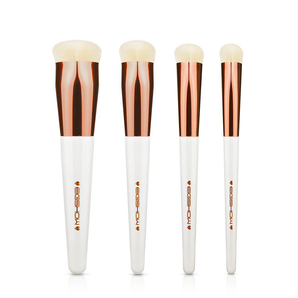 Trendy EIGSHOW 4PCS Makeup Set Heart Shape Foundation Brush Comestic Kit Champaign Gold