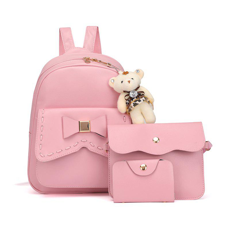 Chic Girl PU 3Pcs Bowknot Backpack