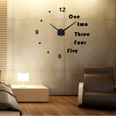Hot 3D EVA European Minimalist Living Room Wall Stickers Large Mirror Wall Clock