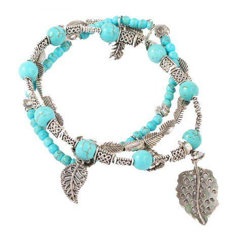 Store Fashion Hand-Made Beads Leaves Stone Bracelets