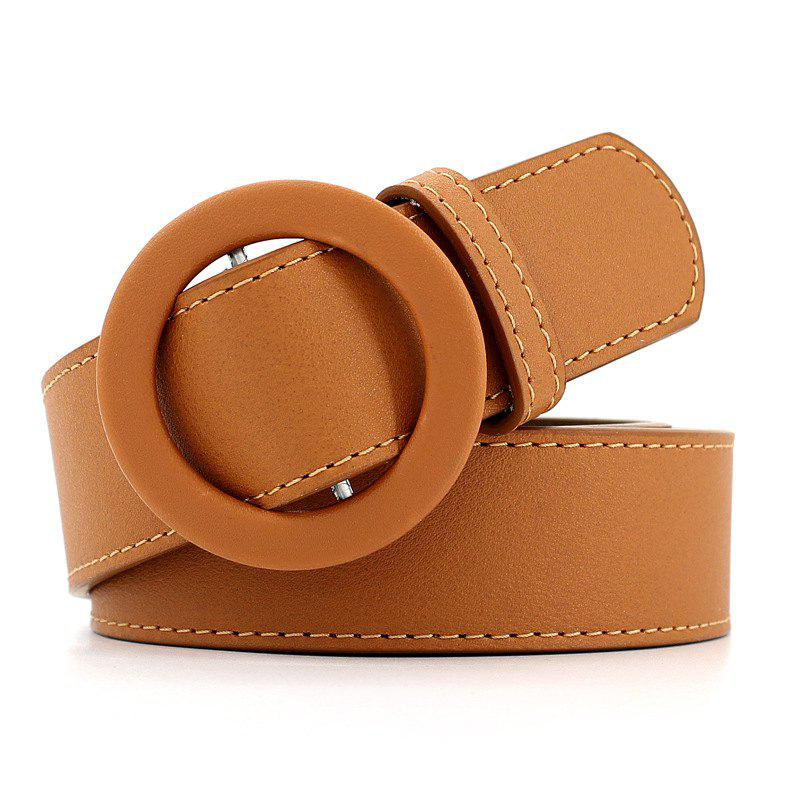 Online Simple Fashion Round Buckle Casual Belt