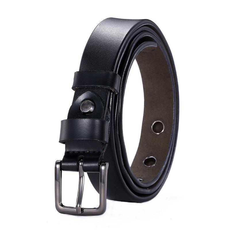 Buy Fashion Square Buckle Hollow Leather Belt