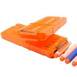 12 Quick Reload Clip System Darts for Toy Gun Nerf N-strike Blaster -