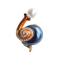 PULATU Colorful Rhinestone Snail Brooches for Women -