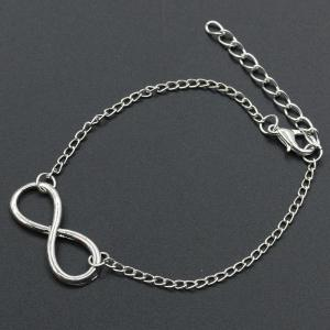 Fashion Character 8 Character Alloy Bracelet Simple Ornaments -