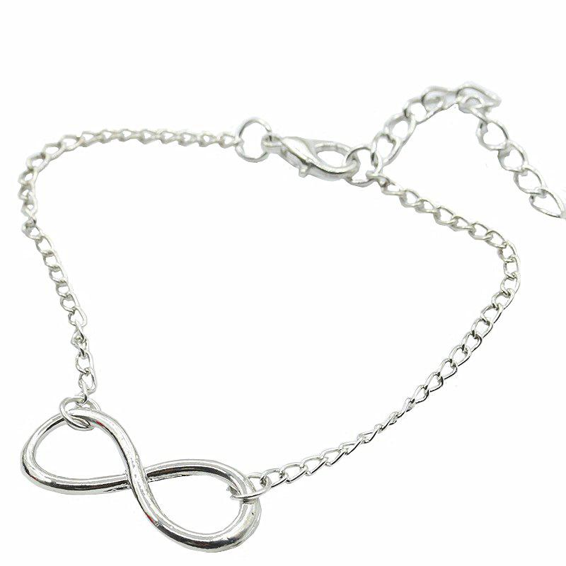 Hot Fashion Character 8 Character Alloy Bracelet Simple Ornaments