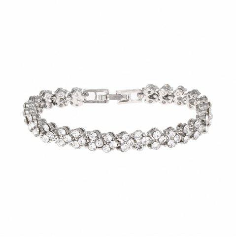 Fancy Beautiful and Exquisite Diamond Set Simple Fashion Crystal Bracelet