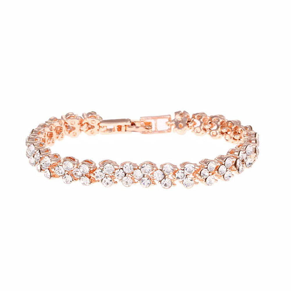 Outfit Beautiful and Exquisite Diamond Set Simple Fashion Crystal Bracelet