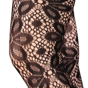 Women Sexy Hollow Net Tights Sunflower Mesh Pantyhose Stockings -