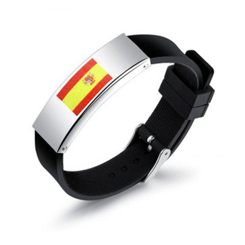 Unique Silicone Wrist Strap National Flag Bracelet