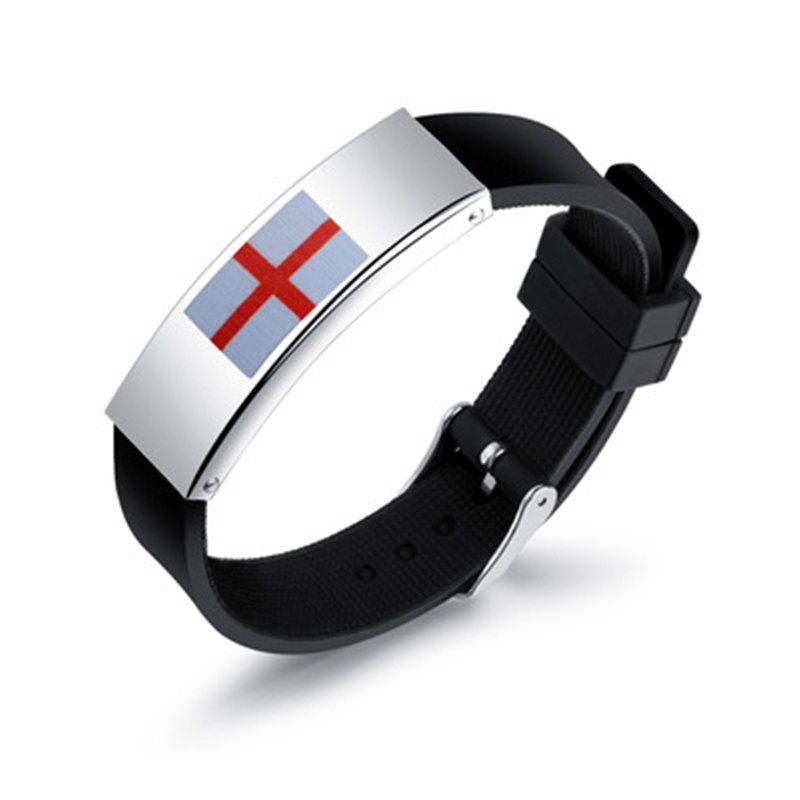 Shop Silicone Wrist Strap National Flag Bracelet