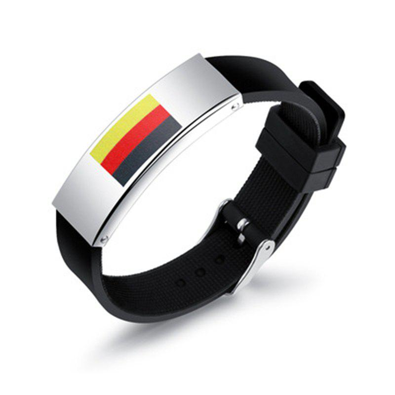 Buy Silicone Wrist Strap National Flag Bracelet