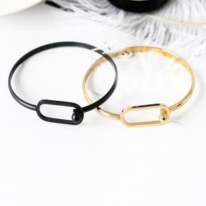Simple Fashion Ladies Small Fresh Metal Creative Geometric Openings Bracelet -