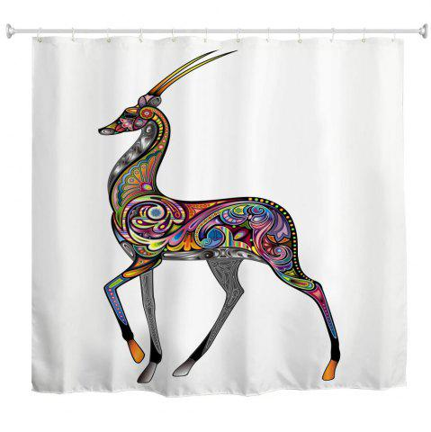 Online Colorful Sheep Water-Proof Polyester 3D Printing Bathroom Shower Curtain