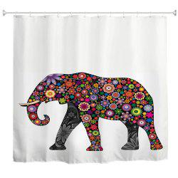Colorful Elephants Water-Proof Polyester 3D Printing Bathroom Shower Curtain -