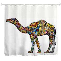 Colorful Camel Water-Proof Polyester 3D Printing Bathroom Shower Curtain -