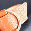 Charm Big Leather Bracelet Classic Alloy Round Adjustable Wide Leather Bracelet -