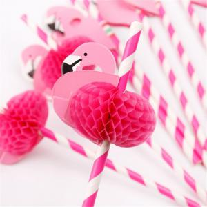 Creative Swan Cartoon Drink Juice Cocktail Craft Paper Straw 2PCS -