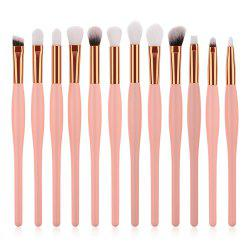 12PCS Small Pregnant Belly Pink Handle Eye Brush -
