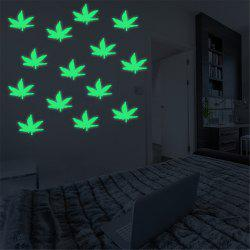 Luminous Cartoon Switch Sticker Glow Maple Leaves Dark Room Decoration -