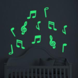 Luminous Cartoon Switch Sticker Glow Note Dark Room Decoration Home Decor -
