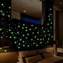 Luminous Cartoon Switch Sticker Glow Snowflake Room Decoration -