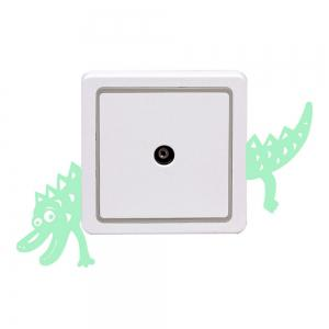 Noctilucent Gravure Adorable crocodile Cartoon Switch Autocollant mur -