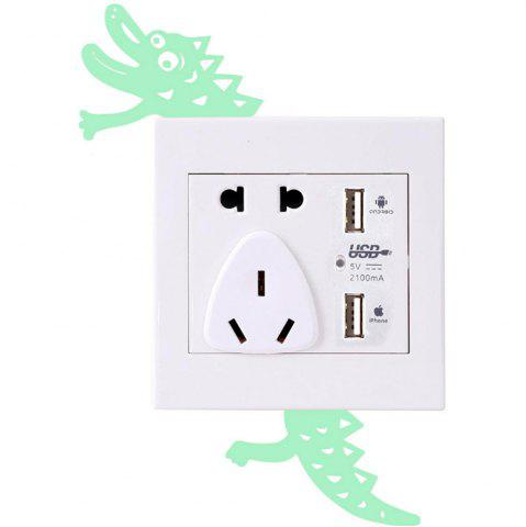 Noctilucent Gravure Adorable crocodile Cartoon Switch Autocollant mur
