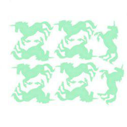 Noctilucent Engraving Adorable Unicorn Cartoon Switch Sticker Wall -