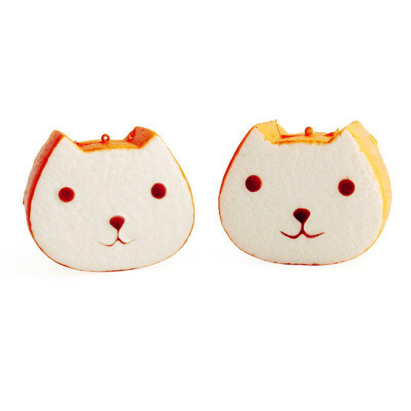 Outfits Simulated Bread Toast Slow Rebound Decompress Toy Jumbo Squishy Pendant 1PC