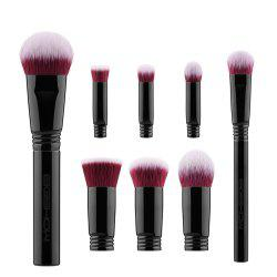 EIGSHOW 8PCS Makeup Set Detachable Travel Costemic Kit Jet Black -