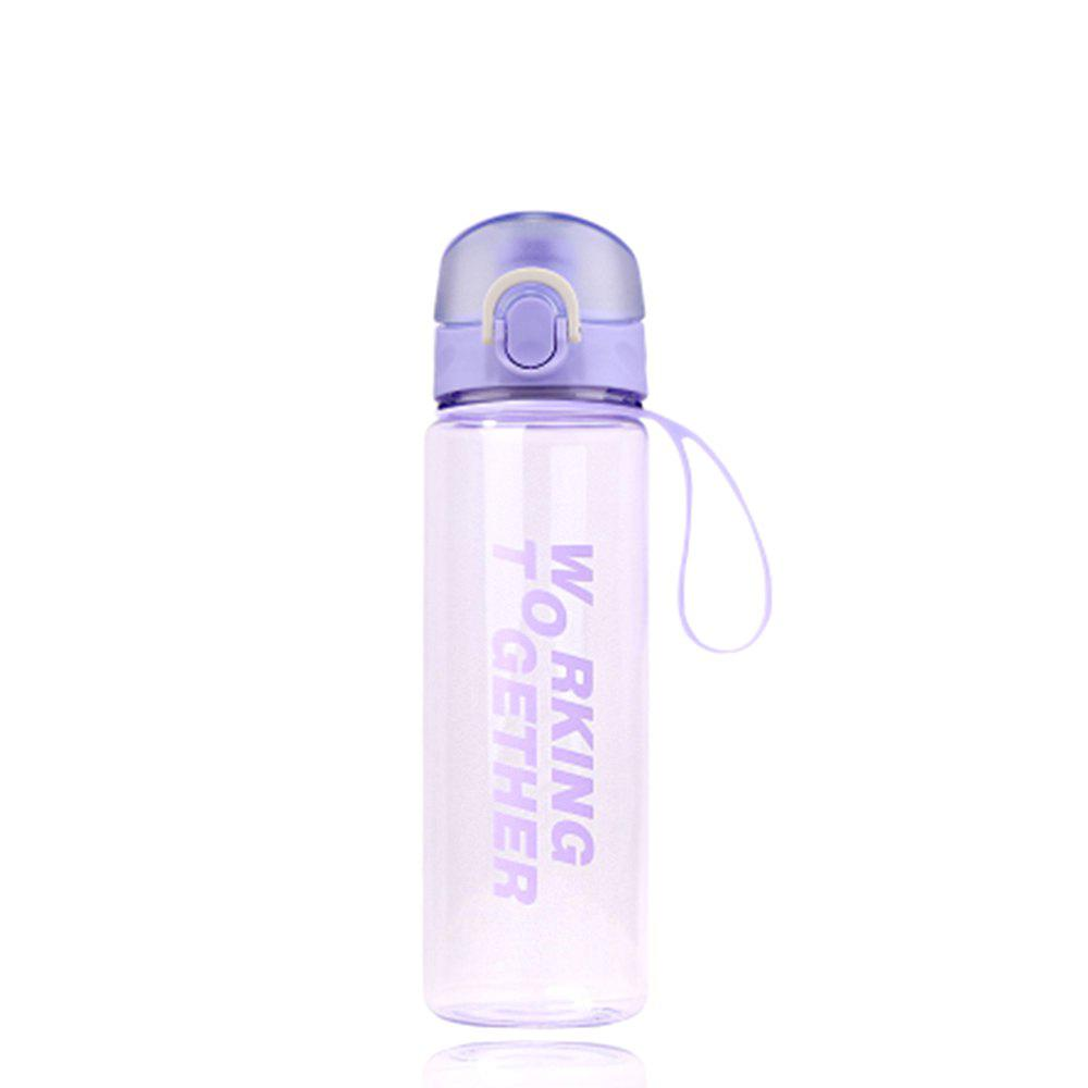 Fashion Creative Convenience Jump Cover Transparent Leakproof Snap Button Plastic Cup